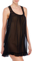 linea donatella Lace and Mesh Chemise with G String