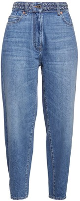 Valentino Baggy Signature Logo Cotton Denim Jeans