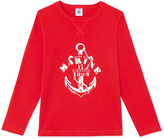 Petit Bateau Boys long-sleeved T-shirt with motif