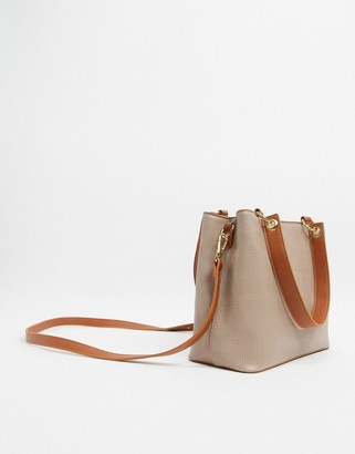 Truffle Collection Checked Tote Bag