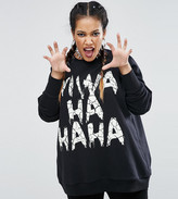 Asos Halloween Sweatshirt With Glow In The Dark Evil Laugh Print
