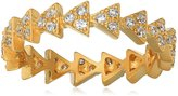 Freida Rothman 14k Plated Arrow Eternity Ring, Size 7