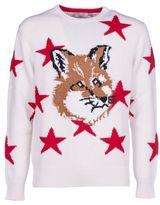 Kitsune Maison Fox Head Stars Pullover