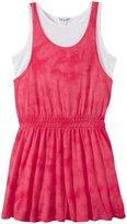 Splendid Tie Dye Dress With Tank (Toddler/Kid) - Dark Pink - 5/6