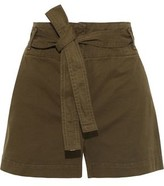 Veronica Beard East Belted Cotton-blend Twill Shorts