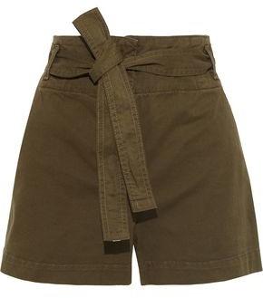 Veronica Beard East Belted Cotton-blend Twill Shorts