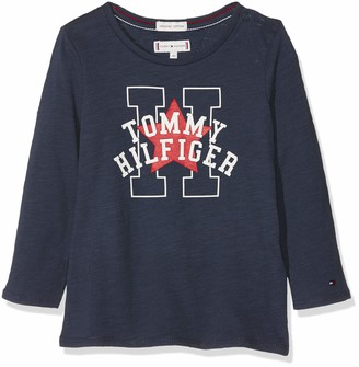 Tommy Hilfiger Girl's Essential Star and H Tee L/s Long Sleeve Top