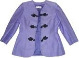 Saint Laurent Purple Silk Jacket for Women Vintage