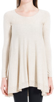 Max Studio Knitted Pullover With Asymmetrical Hem