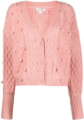 For Love & Lemons Florentina cable-knit cardigan