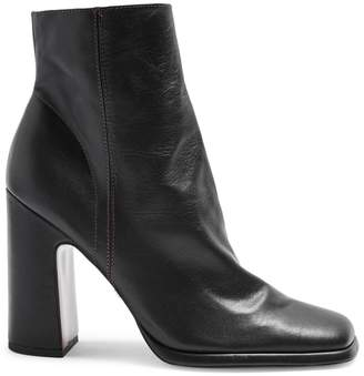 Topshop Holden Leather Black Platform Boots