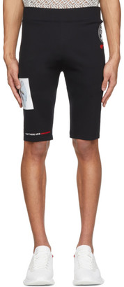 Burberry Black Print Cycling Shorts