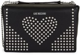 Love Moschino Studded Heart Chain Crossbody