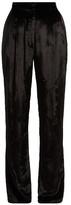 ADAM by Adam Lippes Panne high-rise velvet trousers