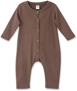 Tesa Babe Rompers Brown - Brown Front-Button Playsuit - Newborn & Infant