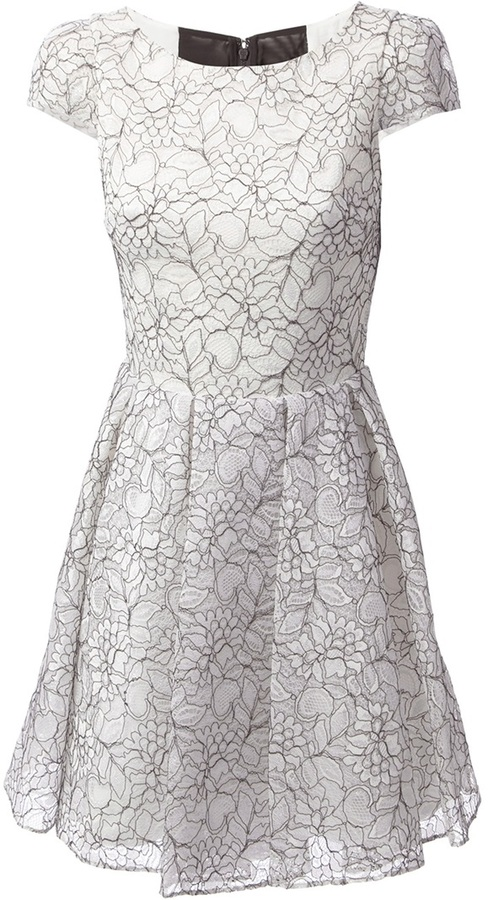 Alice + Olivia Alice+Olivia floral lace dress