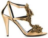 Alberta Ferretti beaded strappy sandals - women - Silk/Rayon - 38
