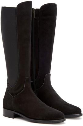 Aquatalia Nanon Suede & Stretch Riding Boot