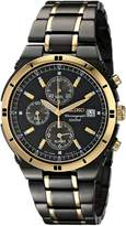Seiko Men's SNAA30 Alarm Chronograph Ion Watch