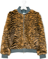 Stella McCartney tiger print jacket - kids - Acrylic/Modacrylic/Polyester - 14 yrs