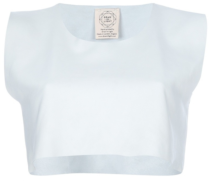 Draw In Light Cropped leather vest