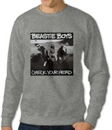 WBED Men's Beastie Boys Check Your Head Long Sleeve Crew Neck Pullover Sweater US Size XL