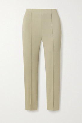 Dion Lee Crepe Slim-leg Pants - Light green