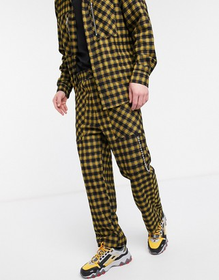 The Ragged Priest co-ord pants in yellow check