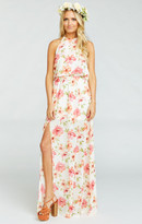 MUMU Heather Halter Dress ~ Pink Poppi