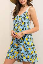 Entro USA Print V Neck Sundress