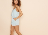 Garage Romper With Open Back
