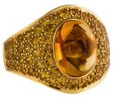 Roberto Coin 18K Citrine & Topaz Cocktail Ring