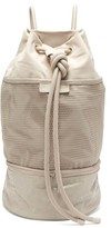 adidas by Stella McCartney Gym Sack Canvas Shoulder Bag - Womens - Grey