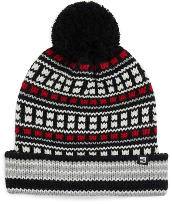 2861e508f Fairisle Cuff Pom-Pom Hat