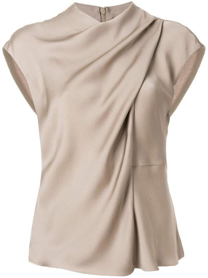 Giorgio Armani draped neck blouse