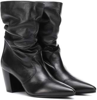 Prada Slouched leather ankle boots