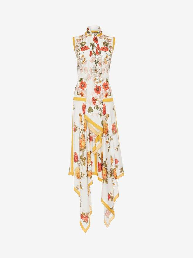 Alexander McQueen Sleeveless Scarf Print Dress