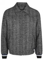 Lanvin Herringbone Wool Blend Bomber Jacket
