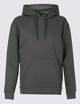 M&S Collection Cotton Rich Hooded Neck Sweatshirt