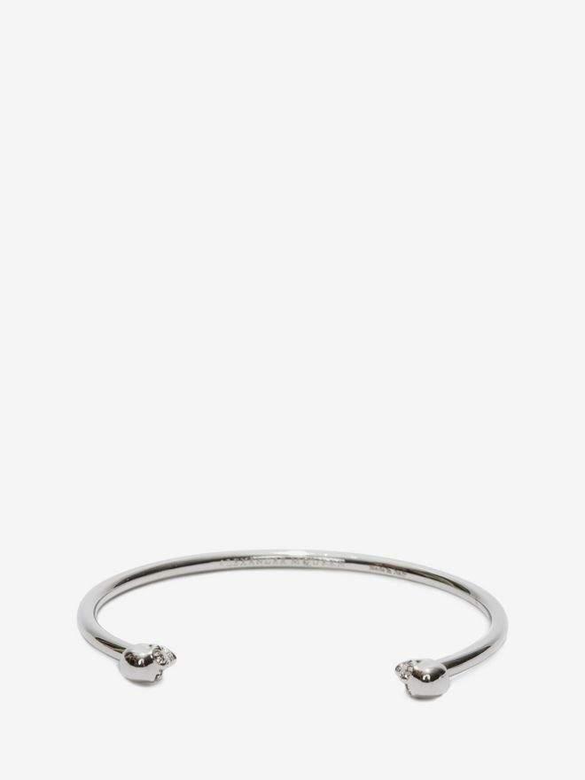 Alexander McQueen Thin Twin Skull Bracelet