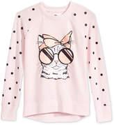 Epic Threads Cat-Print Sweatshirt, Big Girls (7-16), Created for Macy's
