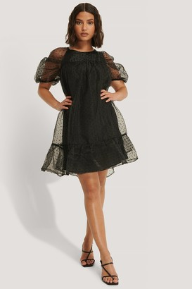 NA-KD Dobby Organza Mini Dress