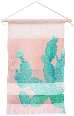Deny Designs Kangarui Pastel Cactus Portait Wall Hanging Tapestry