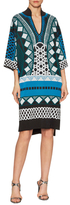Temperley London Gayla Intarsia Stand Collar Kaftan