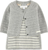 Burberry Striped cashmere blend cardigan and dress