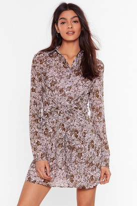 Nasty Gal Womens Waste Grow More Time Floral Mini Dress - Purple - 8