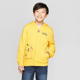 Pokemon Boy' Pikachu Cotume Fleece weathirt - Yellow/Black