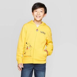 Pokemon Boys' Pikachu Costume Fleece Sweatshirt - Yellow/Black
