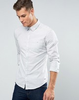 Esprit Brushed Marl Button Down Shirt in Slim Fit
