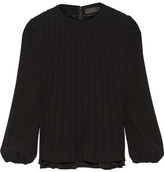 Co Pleated Crepe Top - Black